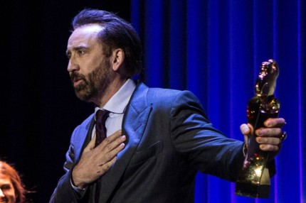 Mandatory Credit: Photo by Quique Garcia/EPA-EFE/REX/Shutterstock (9916391e) US actor Nicolas Cage speaks after receiving the Honorary Lifetime Achievement Award at the 51st Sitges International Fantastic Film Festival, in Sitges, Spain, 06 October 2018. The festival runs from 04 to 14 October. 51st Sitges Fantastic Film Festival, Sitges (Barcelona), Spain - 06 Oct 2018