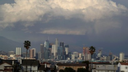Mandatory Credit: Photo by ANDREW GOMBERT/EPA-EFE/REX/Shutterstock (9443021e) A view of the skyline of downtown Los Angeles, California, USA, 27 February 2018. Los Angeles has an estimated population of over four million. In 2010 it was the second largest city in the USA. Downtown Los Angeles skyline, Usa - 27 Feb 2018